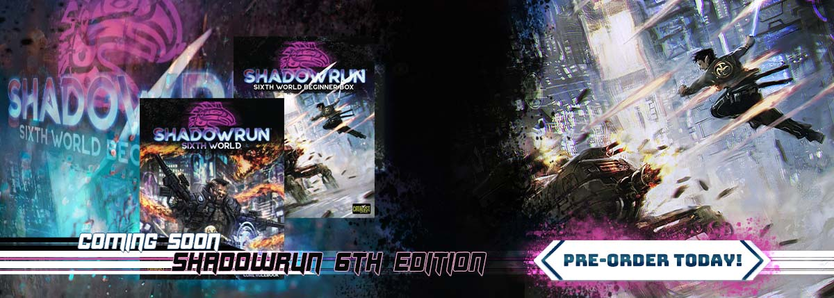 Preorder Shadowrun 6th ed